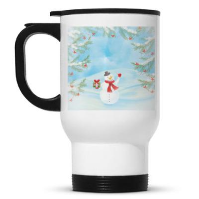 Кружка-термос Зимнее настроение / Снеговик