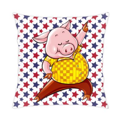 Подушка Dancing Pig