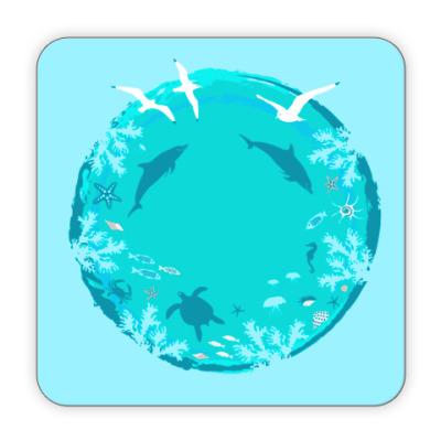 Костер (подставка под кружку) Океан