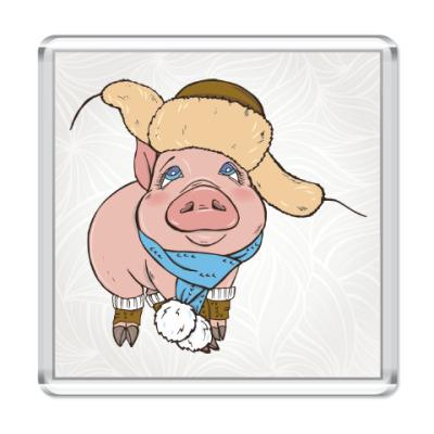 Магнит Новогодняя Свинка