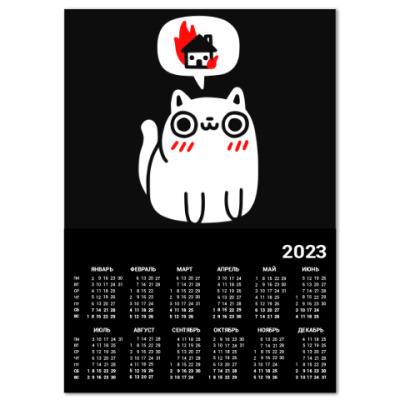 Календарь Котик злой