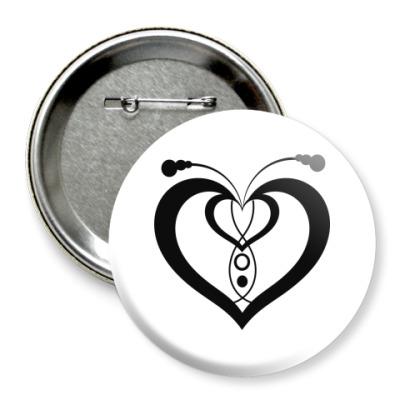 Значок 75мм Сердца