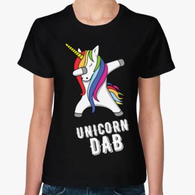 Женская футболка UNICORN DAB