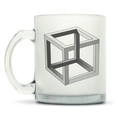 Кружка матовая Невозможный Куб 3D