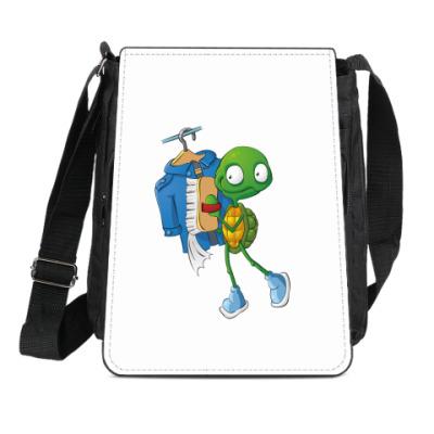 Сумка-планшет Чистюля Черепашонок с щеткой