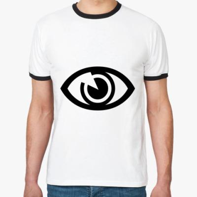 Футболка Ringer-T Глаз