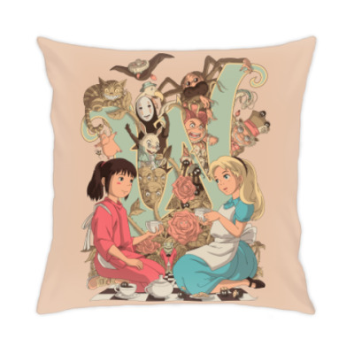 Подушка Wonderland Alice and Chihiro