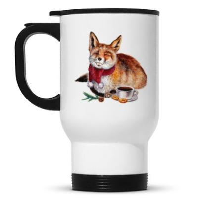Кружка-термос Новогодняя лисичка