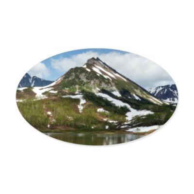 Виниловые наклейки Полуостров Камчатка, горы летом