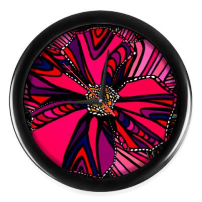 Настенные часы Декоративный цветок