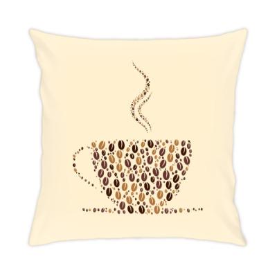 Подушка Кофе из кофейных зерен