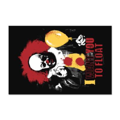 Наклейка (стикер) Clown It by Stephen King