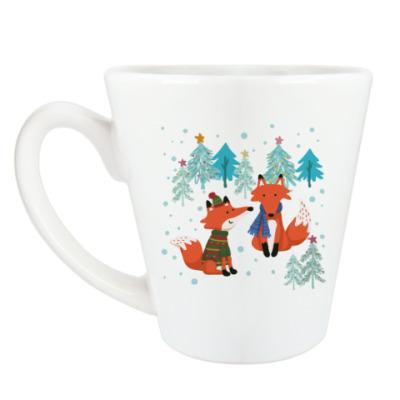 Чашка Латте Лисички