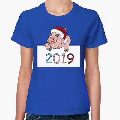 Женская футболка Свинка 2019