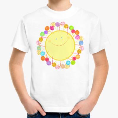 Детская футболка Солнце из леденцов