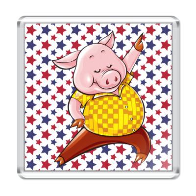 Магнит Dancing Pig