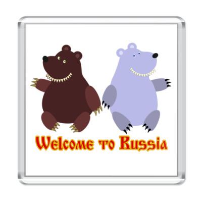 Магнит Welcome to Russia!