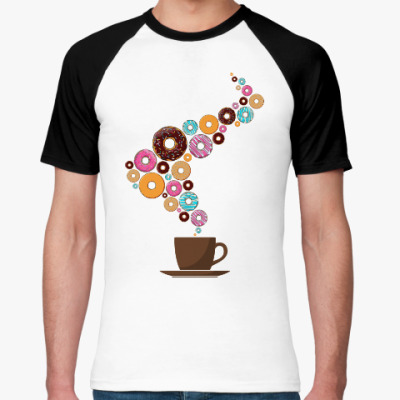 Футболка реглан Кофе с пончиками