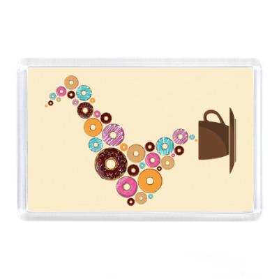 Магнит Кофе с пончиками