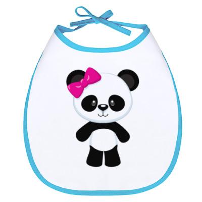 Слюнявчик Panda Girl
