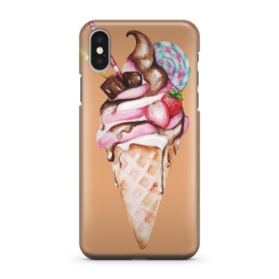Чехол для iPhone X мороженое