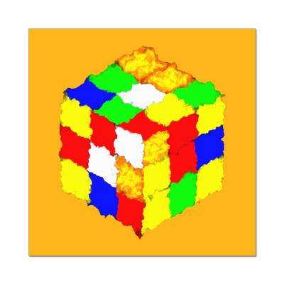 Наклейка (стикер) Кубик Рубика