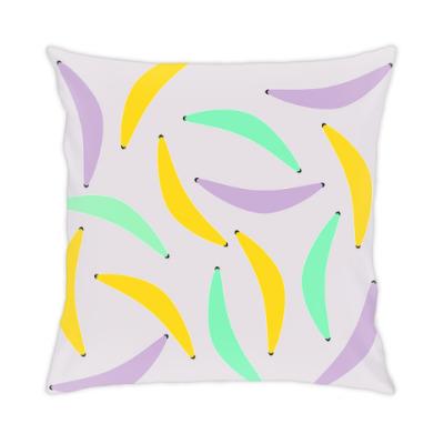 Подушка Разноцветный банан