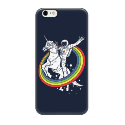 Чехол для iPhone 6/6s Космонавт на единороге
