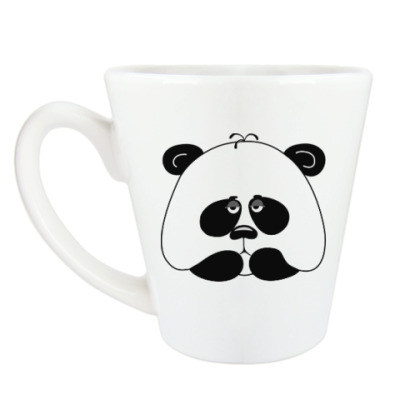 Чашка Латте Грустная панда