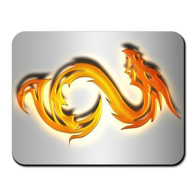 Коврик для мыши Огненный дракон