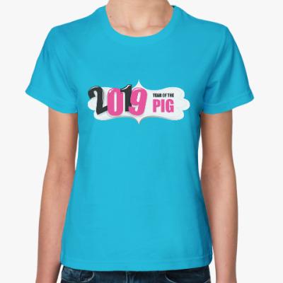 Женская футболка 2019 год Свиньи