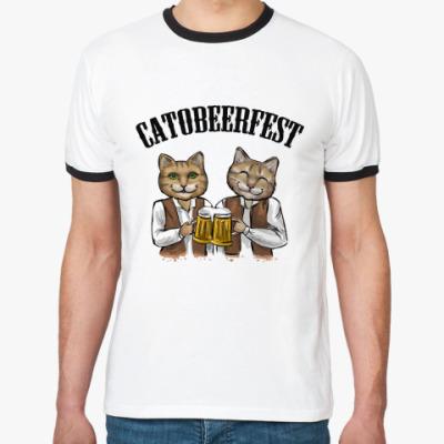 Футболка Ringer-T Catobeerfest