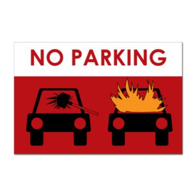 Наклейка (стикер)  предупреждающая