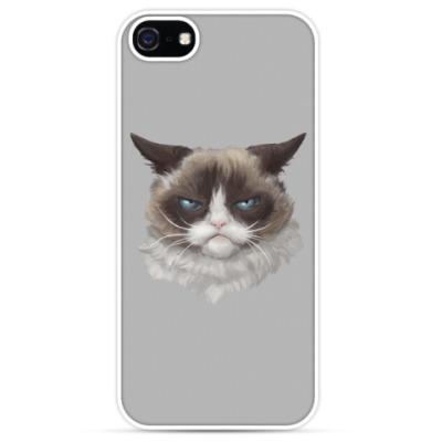 Чехол для iPhone Grumpy Cat / Сердитый Кот