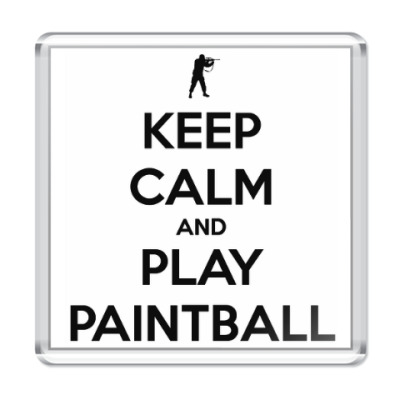 Магнит Keep Calm And Love Paintball
