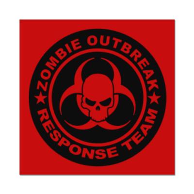 Наклейка (стикер) Zombie outbreak response team