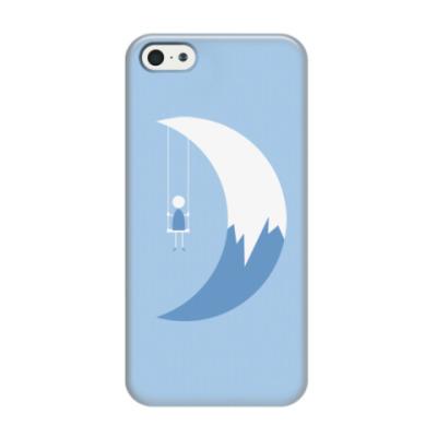 Чехол для iPhone 5/5s Качели на Луне