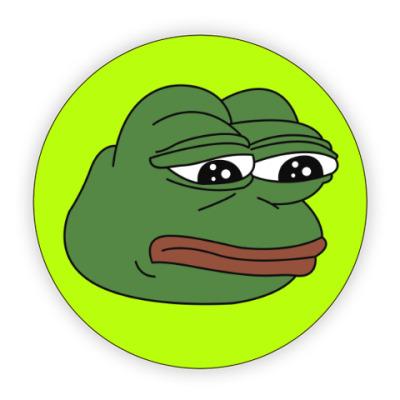 Костер (подставка под кружку) Грустная лягушка