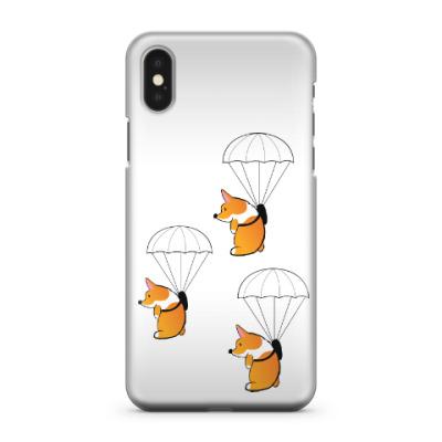 Чехол для iPhone X смешные собаки корги