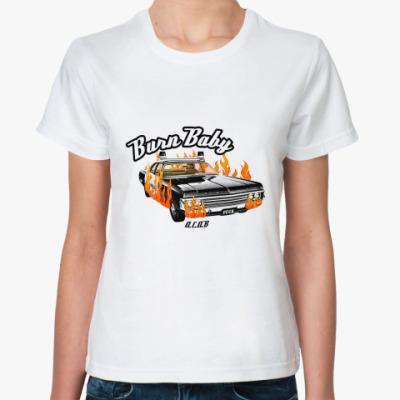 Классическая футболка 'burn baby'
