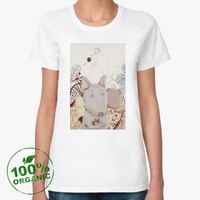 Женская футболка из органик-хлопка  'Волчок'