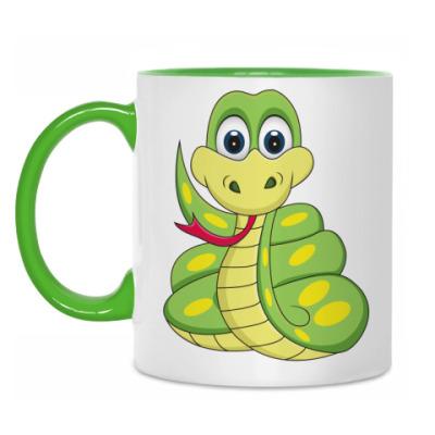 Кружка Прикольная змея