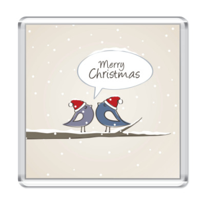 Магнит С Рождеством и Новым годом Merry Christmas