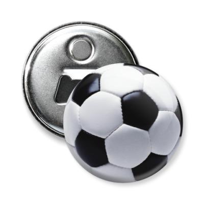Магнит-открывашка Футбольный мяч