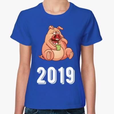 Женская футболка Fat Pig 2019