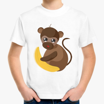 Детская футболка Обезьянка Биззи 2016