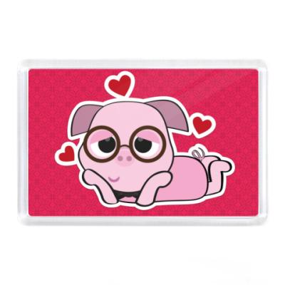 Магнит Loving Piggy