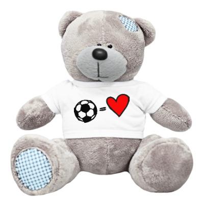 Плюшевый мишка Тедди Футбол моя любовь