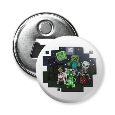 Магнит-открывашка Minecraft