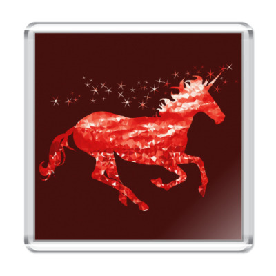 Магнит Рубиновый Единорог